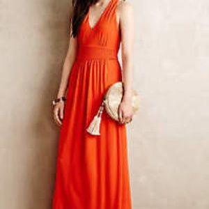 Anthropologie Dresses - Anthropologie Yuma Maxi Dress in Orange